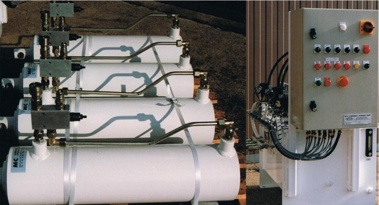 Levage synchronisé hydraulique